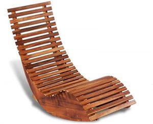VidaXL: Bain de soleil chaise longue bois