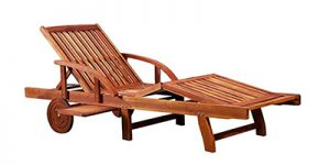 chaise longue en bois Deuba
